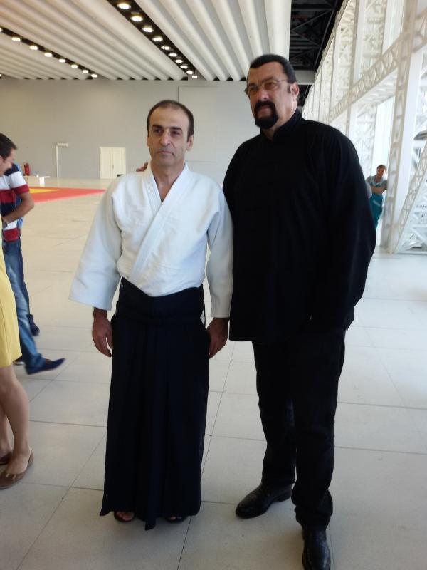 Айкидо в Азербайджане Farhad Aleskerov Stiven Seagal